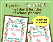 First Day of Third Grade Sign, First Day of School Sign 3rd Grade, 1st Day of School Sign Printable, Back to School Sign Instant Download