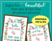 First Day of First Grade Sign, First Day of School Sign Printable, First and Last Day of School Sign, Back to School, 1st Day of School Sign