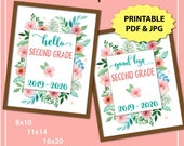 First Day of Second Grade Sign, First Day of School Sign Printable, First and Last Day of School Sign, Back to School 1st Day of School Sign