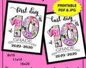Back to School Sign 10th grade, First Day of School Sign Printable, 1st Day of School Sign, Sophomore Year, School Photo Props for Girls