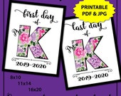 First Day of Pre-K Sign, First Day of School Sign Printable, First Day of Preschool Sign, 1st Day of School Sign, Teacher Sign, 2019-2020