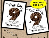 Leopard Print, First Day of High School Sign, First Day of School Sign Printable, Animal Print, 1st Day of School Sign, Freshman Year Sign