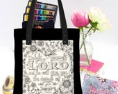 Delight Yourself in the Lord Bible Journaling Bag, Scripture Totes, Teacher Tote Bag, Christian Gifts for Women, Bible Cover, Bible Tote