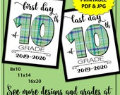 Back to School Sign 10th grade, 1st Day of School Sign for Boy, First Day of School Sign Printable, Sophomore Class, School Photo Props