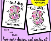 First Day of School Sign Printable, First Day of 8th Grade Sign, Back to School Sign, 1st Day of School Sign, School Photo Props, Girl