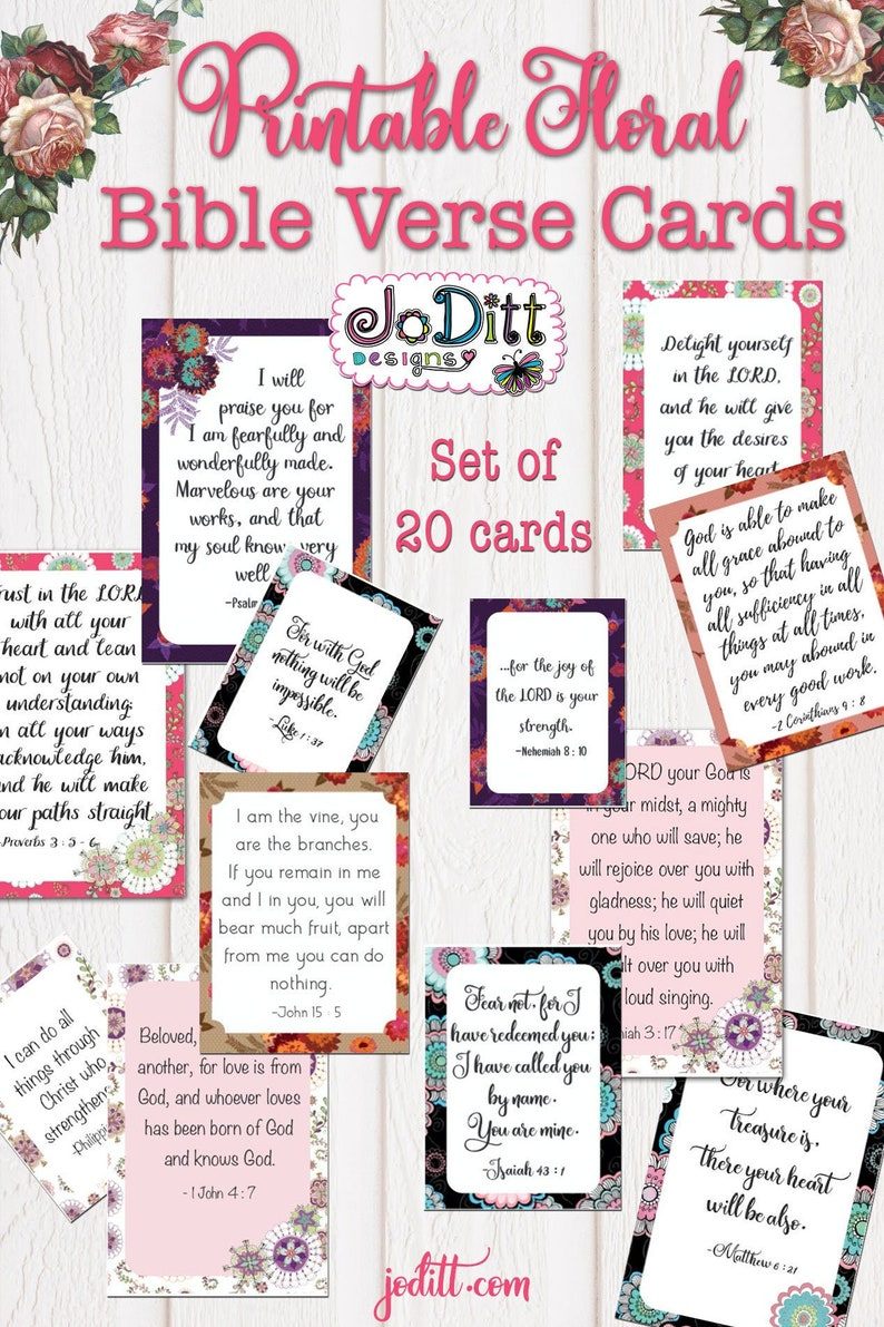 picture regarding Bible Verse Cards Printable called Bible Verse Playing cards, Challenge Existence Playing cards/Printable Journaling Playing cards, Scripture Memory Playing cards/Christian Playing cards, Bible Journaling / Magazine Playing cards