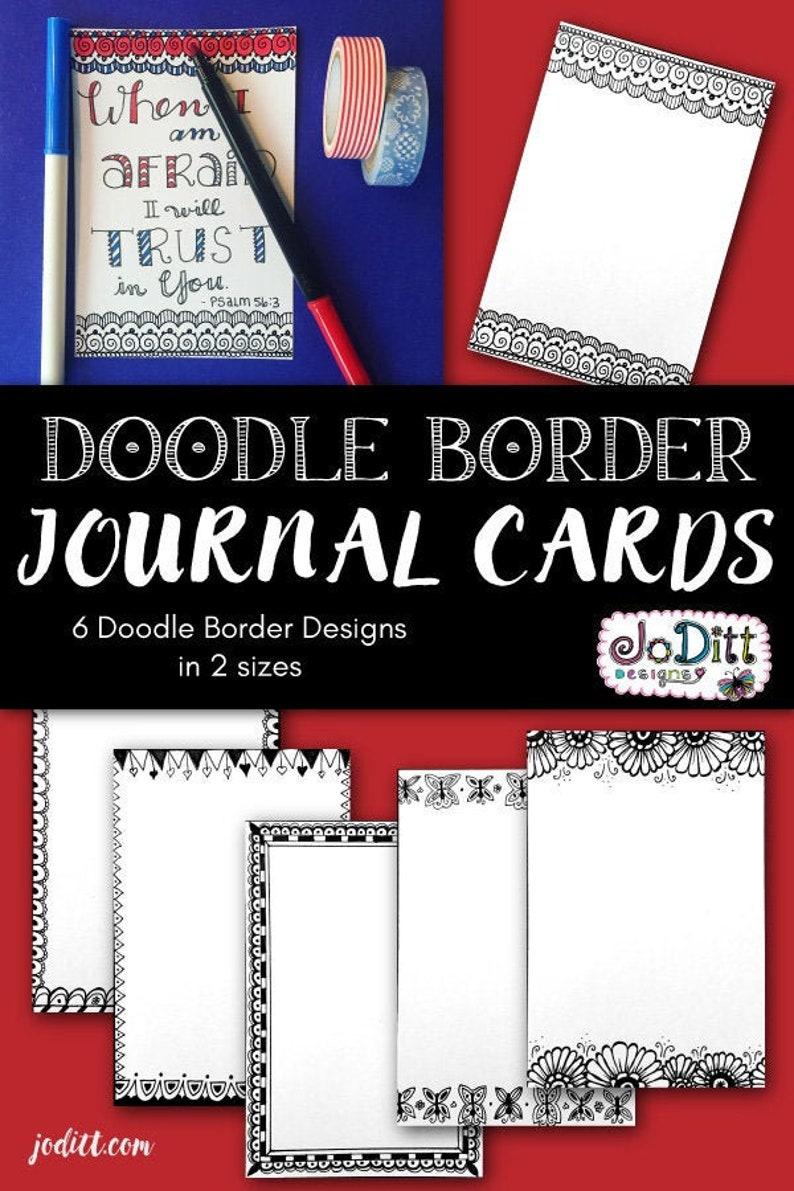 Coloring Cards/Bible Journaling Printable Journal Cards image 0