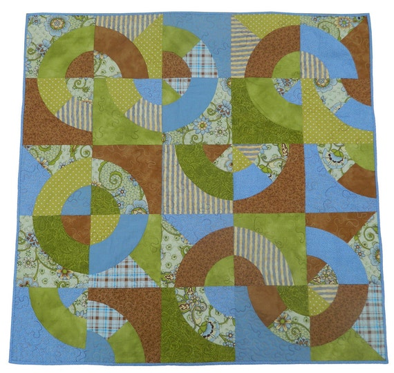 Handmade Quilt  Nine-Patch Shadows by GloryQuilts FREE SHIPPING