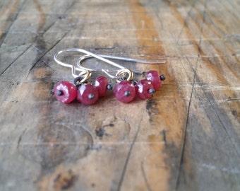 Petite Ruby Earrings