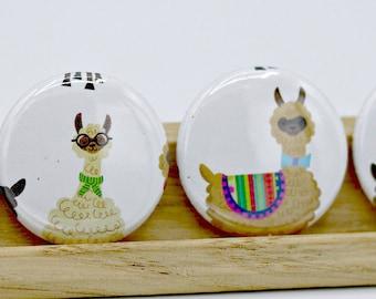 Llama Kitsch 1 Inch Button Pins Pinbacks Backpack Pins