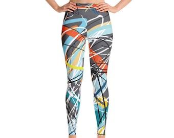 SGRIB Print Women's Fashion Yoga Leggings - xs-xl sizes - design number three - on darkgray