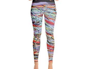 SGRIB Print Women's Fashion Yoga Leggings - xs-xl sizes - design number nineteen - on gray-black