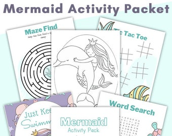 Mermaid Activity Pages Printable Packet