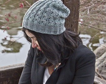 Knitting Pattern for Eldridge Slouchy Lace Hat