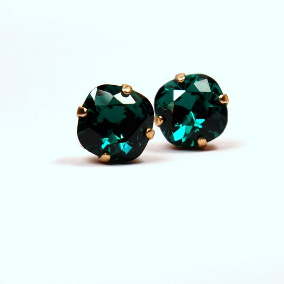 Genuine Kelly Green Rainbow Topaz Round Sterling Silver Earrings Choose Size