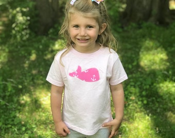 Whale Toddler Tee · Custom Kids T-Shirt · Cute Kids Clothes · Nautical Children's Clothes · Whale Kids Outfit