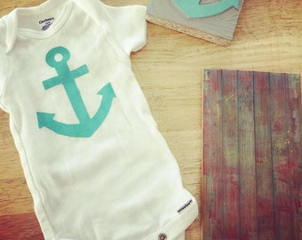 Anchor Baby Bodysuit · Nautical Baby Clothes or Toddler Shirt Anchor Tee · Baby Beach Outfit Printed Onesie · Newborn Gift Anchor Onesie