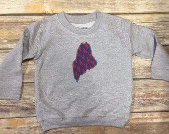Limited Edition Signature Lobster Maine Crew Sweatshirt · Lobster Maine · Cute Kids Clothes · Maine Children's Clothes · Kids Outfit