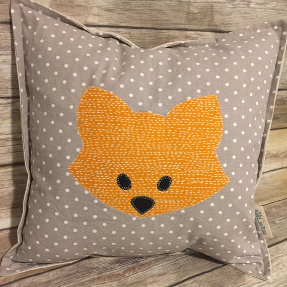 Fox Nursery Pillow · Fox Pillow Baby Room Decor · Custom Pillow Nursery Decor · 18x18 inch Personalized Baby Shower Gift · Woodland Nursery