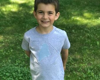Maine Toddler Tee · Custom Kids T-Shirt · Cute Kids Clothes · Maine Children's Clothes · Maine Kids Outfit