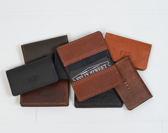 Business card cases etsy search results more colors personalized leather business card case colourmoves
