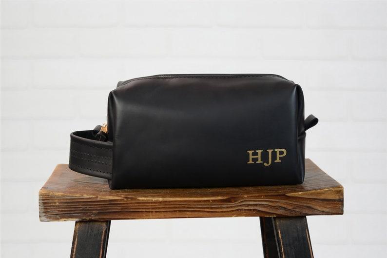 Leather Groomsman Gift Toiletry Bag Men S Dopp Kit Best Etsy