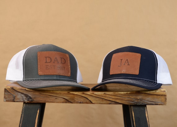 Personalized Leather Richardson Trucker Hat Custom Logo  3b0aee12d310