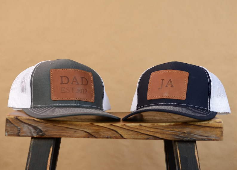 7ef7ca81d57 Personalized Leather Richardson Trucker Hat Custom Logo