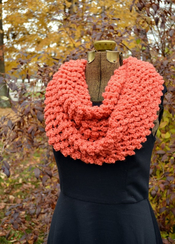 Gifts for Women  Autumn Fall Chunky Knit Fashion Ready to Ship Yellow Circle Cowl Scarf Perfect Winter Fashion Color