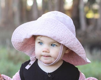 a5f3bb8d Pink Baby Girl Wide Brim Floppy Summer Hat for Babies, Toddlers and Kids