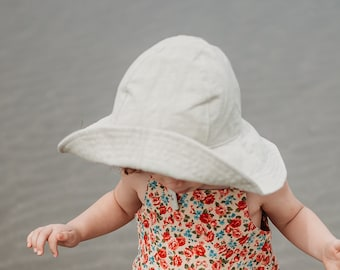35f678264cfb11 Natural Wide Brim Floppy Sun Hat for Beach Babies and Kids