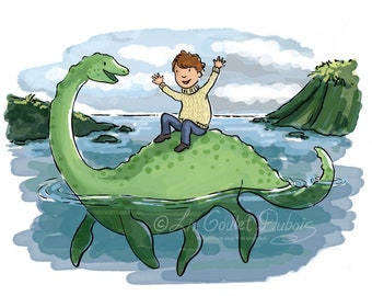 Lucky Day at Loch Ness Archival Matted Print