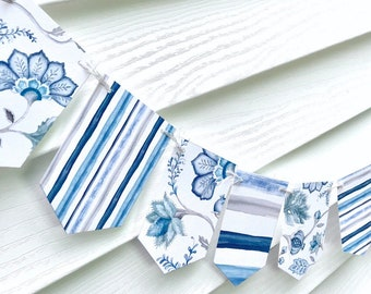 Blue and White Party Garland