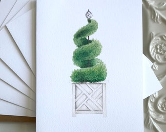 Topiary Notecards Stationery Greeting Cards