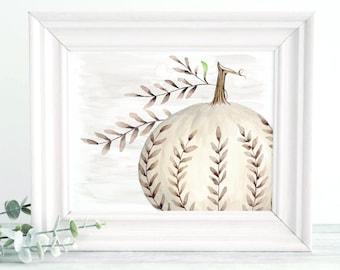 Wall Art Autumn Pumpkin Decor Downloadable Print