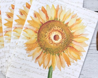 Sunflower Note Cards Set of Six