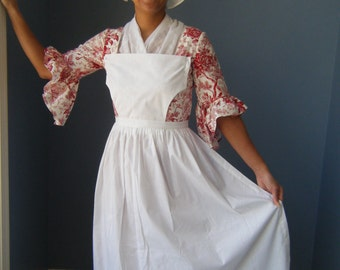 Pinner Apron Colonial Costume 18th. Century