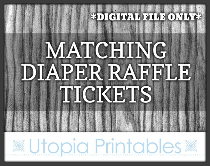 Matching Baby Shower Diaper Raffle Tickets  PLEASE READ image 0