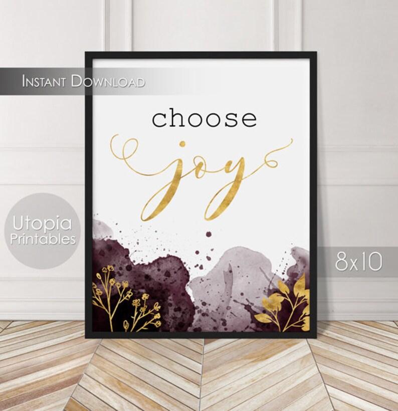 Choose Joy Printable Quote Motivational Positive Empowerment image 0