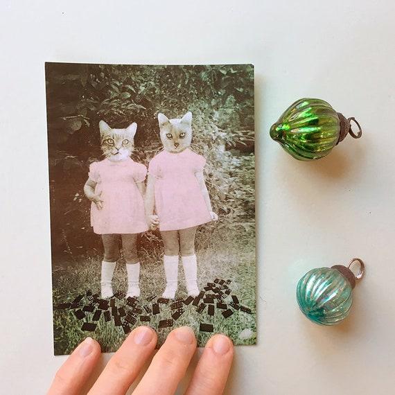 Pink dresses – kunstkort