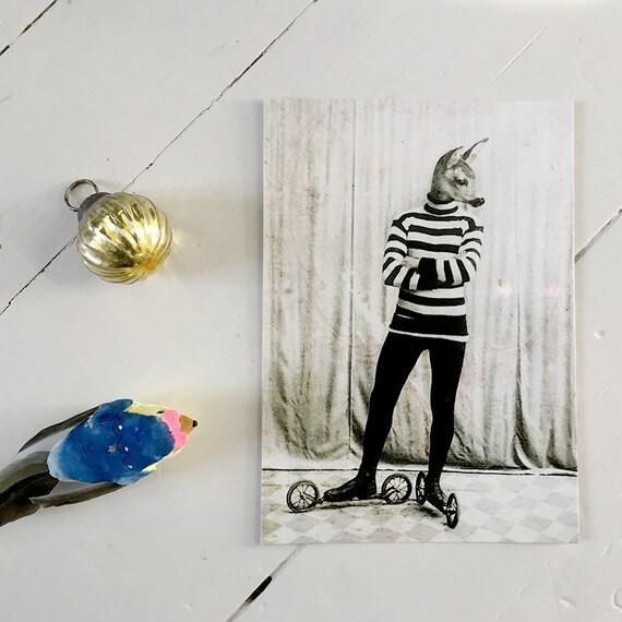 The Rollerskater – kunstkort