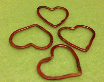 NEW Rch4-18mm Rosey copper hearts