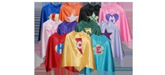 Set of 5 Personalized custom children's capes with matching masks (5)
