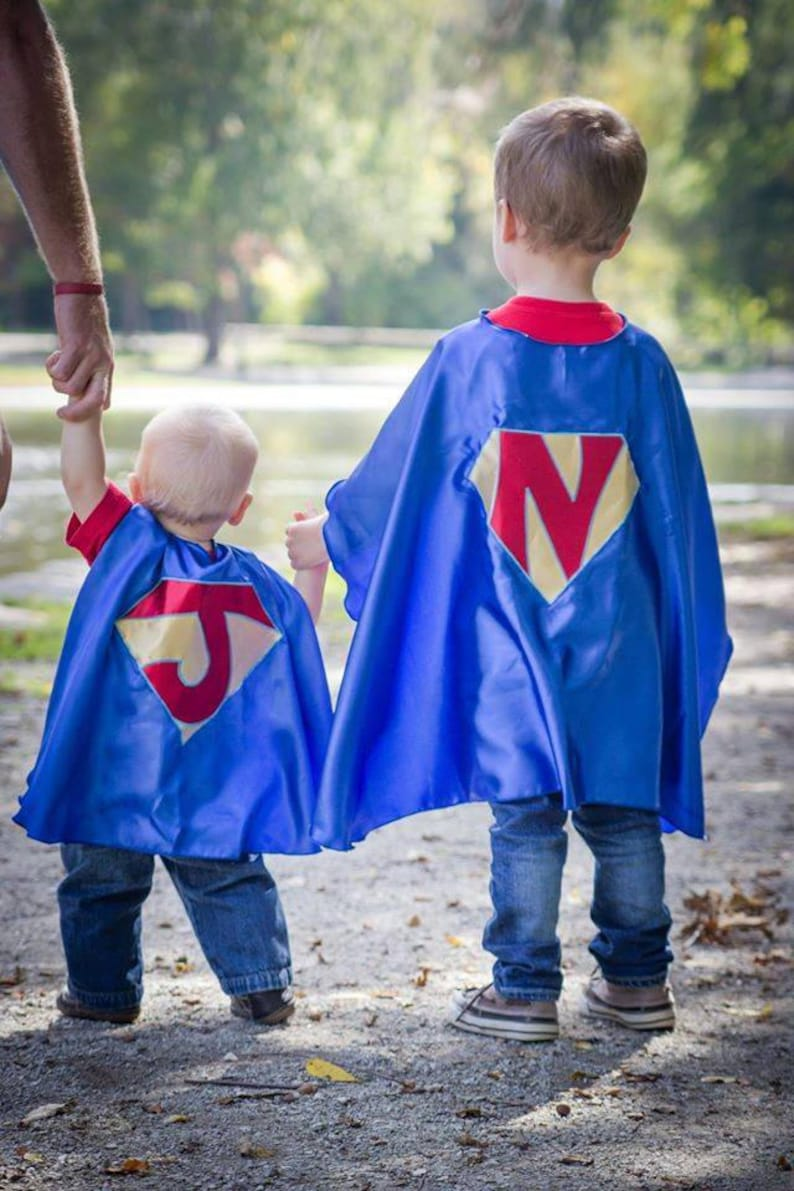 Set of 2 Custom personalized superhero capes, customized, made to order