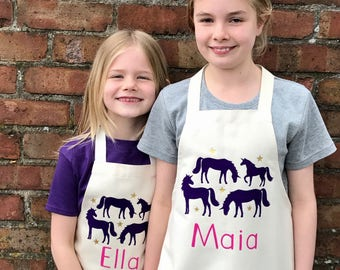 Personalised Unicorn Apron Set|Personalised apron|mothers day gift|apron set|Housewarming gift|unicorn gift|unicorn apron