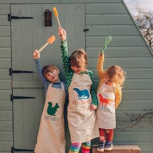 Personalised Woodland Animals Kids Apron