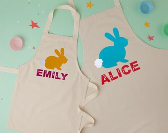 Personalised Easter Bunny Apron|Childrens Apron|Kids Apron|baking apron|toddler apron
