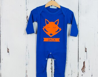 Personalised Babygrow with Fox Tail