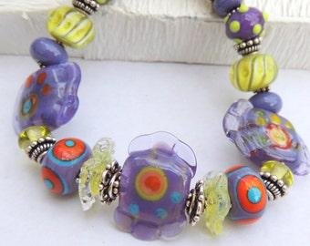 UNTITLED Handmade Lampwork Bead Bracelet