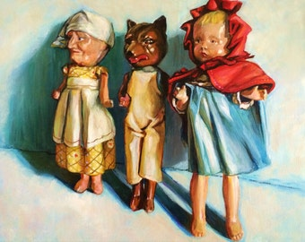 8x10 Custom Toy Portrait, acrylic on canvas